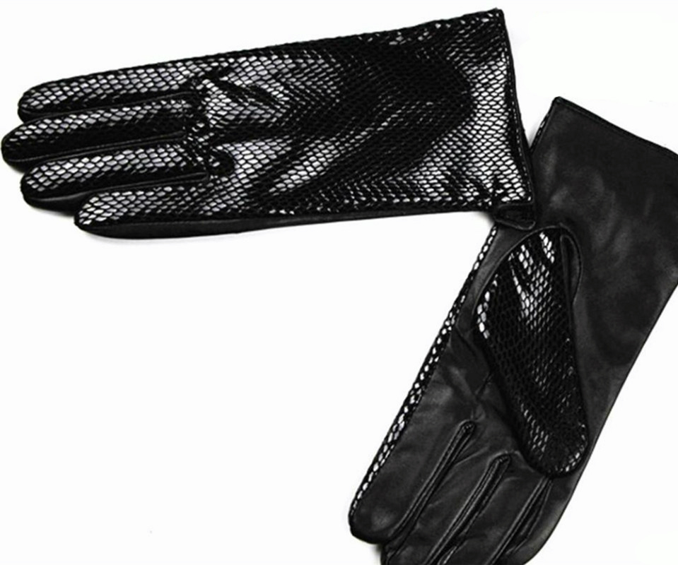 Image 3 - Female style snakeskin pattern leather gloves points finger sheepskin gloves warm cashmere lining armband sets free shipping-in Women's Gloves from Apparel Accessories
