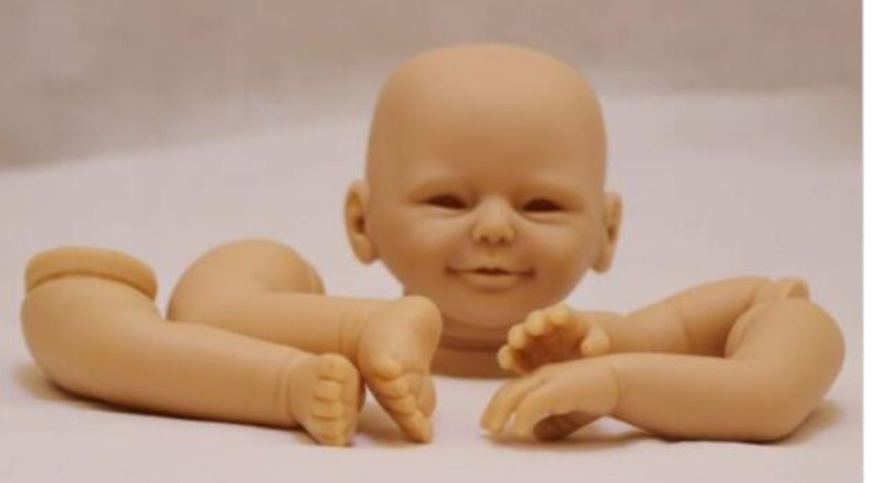 Pursue 21 New Style Open Eyes Smile Face Blank Reborn Baby Doll Kits Silicone Lifelike Newborn Doll Kits for Artist Handmade albrecht dobmann bruegel d a