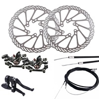 BB5 Mountain Bike Mechanical Disc Brake Front & Rear Set with G3 160mm Rotors Excellent sealing waterproof and dustproof.