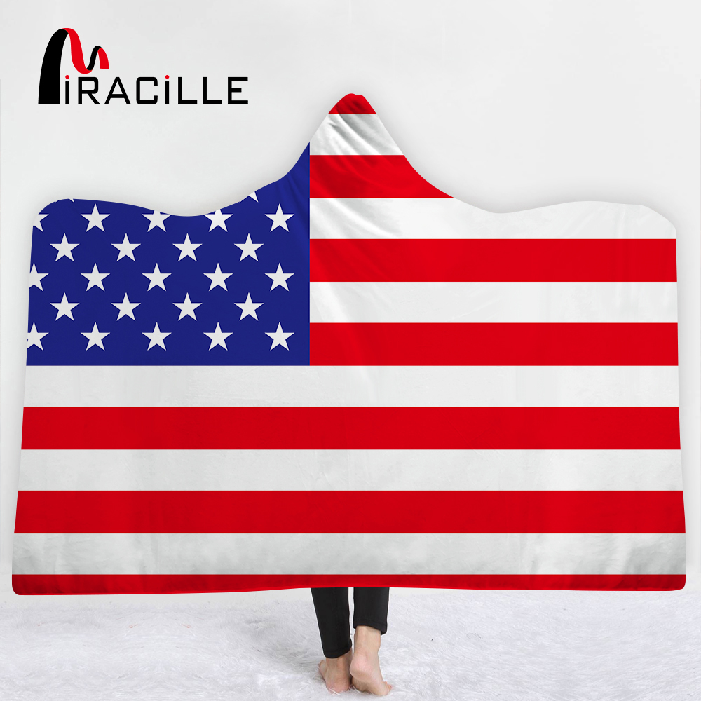 Miracille National Flag Printed Pattern Adults Children Kids Blanket Soft Wearable Fluffy Winter Warm Home Travel