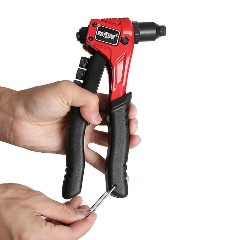 "Купить с кэшбэком Rivets Gun 8"" (200MM) Single Hand Blind Rivet guns Manual Riveting Tool Hand Heavy Hand Tool Manual Mandrels one-hand operation"