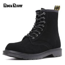 Unisex High Cow Suede Leather Ankle Boots Men Autumn Winter Dr Martins Men Shoes Casual Waterproof Motorcycle Men Boots