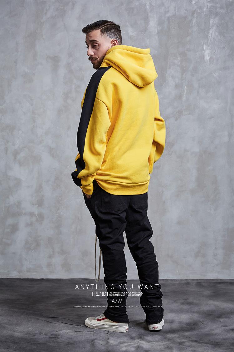Aolamegs Hoodies Men Side Striped Hood High Street Pullover Cotton Fashion Hip Hop Streetwear Casual Big Pocket Hoodie Autumn (9)