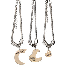 3 Pieces /Set Of Best Friends Sister Bracelets Moon Love Big Sis Sis Small Sis Bracelet Female BFF Friendship Jewelry sis b2005 page 5
