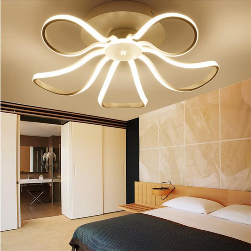 Deformované kroužky Moderní LED Stropní světla Dálkové ovládání Stropní svítidla Obývací pokoj Lampa Lampa Lamparas De Techo
