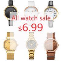 CRRJU co dzień duża sprzedaż, wszystkie zegarki sprzedaż 6.99 $ męskie zegarki Top marka luksusowy zegarek dla kobiet zegar kwarcowy