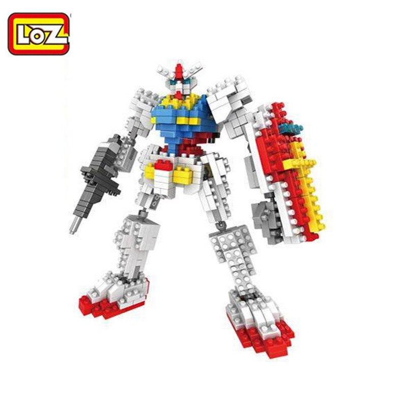 <font><b>LOZ</b></font> <font><b>Gundam</b></font> Diamond <font><b>Building</b></font> <font><b>Blocks</b></font> Mini Action Figures Robot 6 style Anime toys Birthday Gift