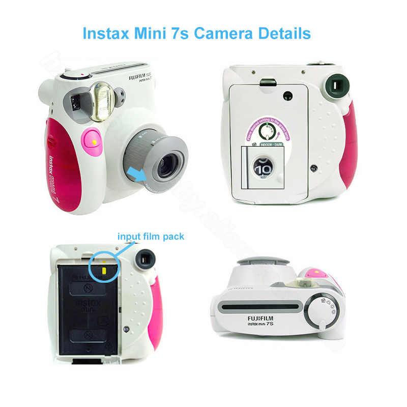 FUJIFILM Instax Mini 7 S Instan Film Kamera Foto Biru Pink Hitam, menerima Fuji Fujifilm Instax Mini Film