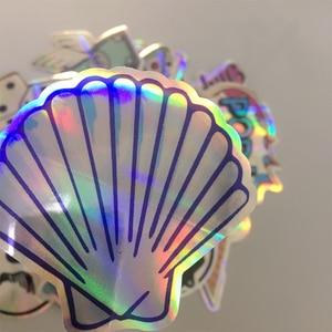 Image 4 - 20 pçs/set legal estrela laser adesivos para motocicleta notebook trolley caso skate colorido crânio cruz dope adesivo pacote decalques