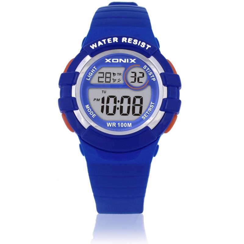 Students Sports Watches Waterproof 100m Girls Multifunction Digital Watch Running Swimming Diving Wristwatch Montre Femme HX