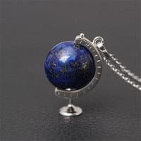 Natural Lapis Lazuli Blue Earth Charm Pendant Choker Necklace For Women I n100% Pure 925 Sterling Silver Unique Original Design