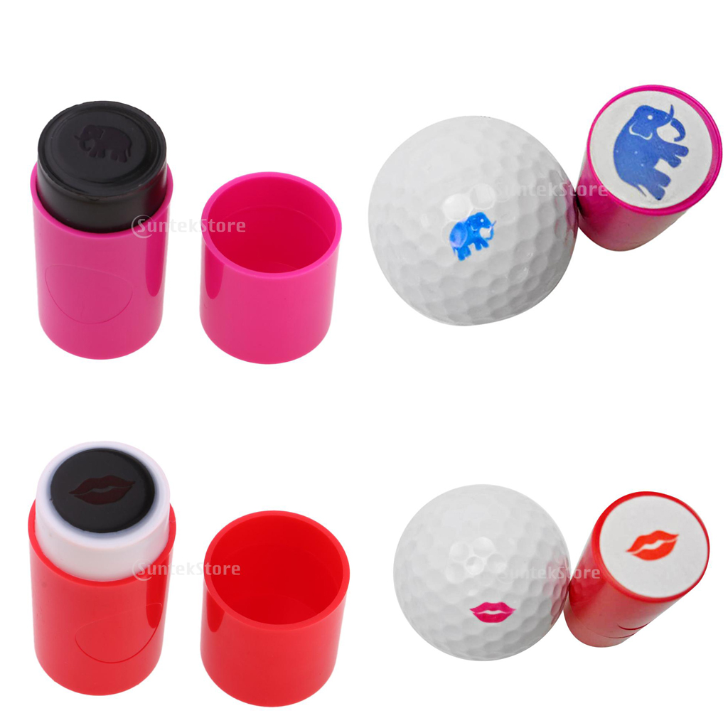 2Pcs ABS Plastic 5.3cm Golf Ball Stamp Stamper Marker Long Lasting & Quick-dry Impression Seal for Golfer Learner