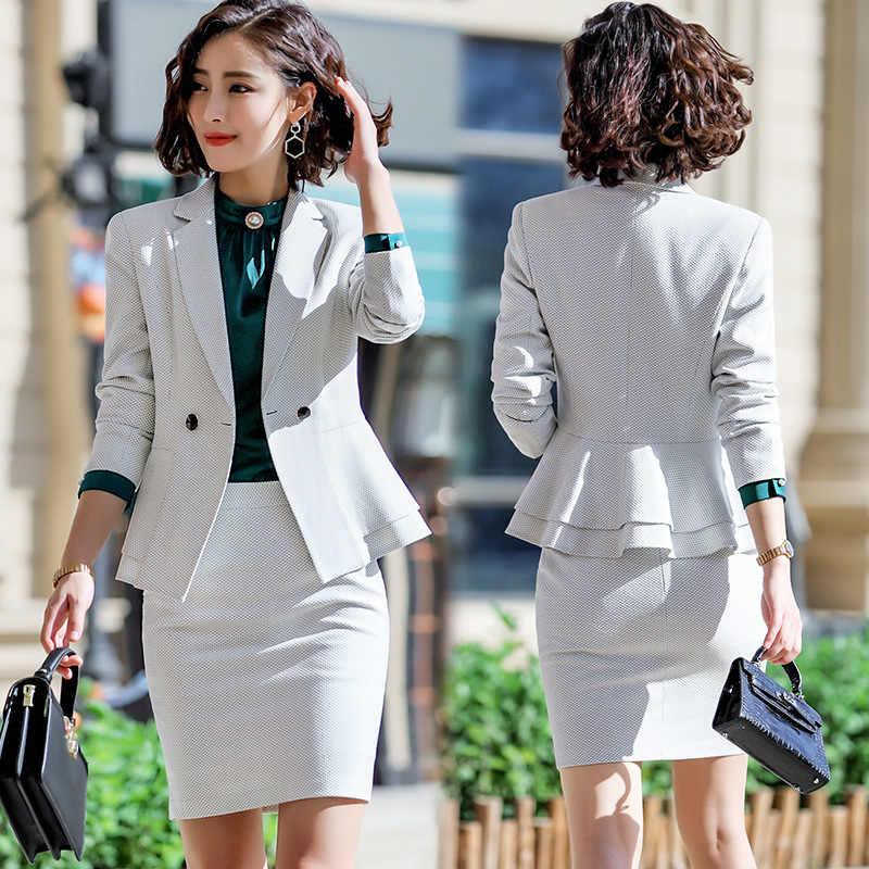 97e5219dc7b Traje de negocios mujer 2019 primavera y otoño nueva temporada moda  temperamento pequeño traje de dos