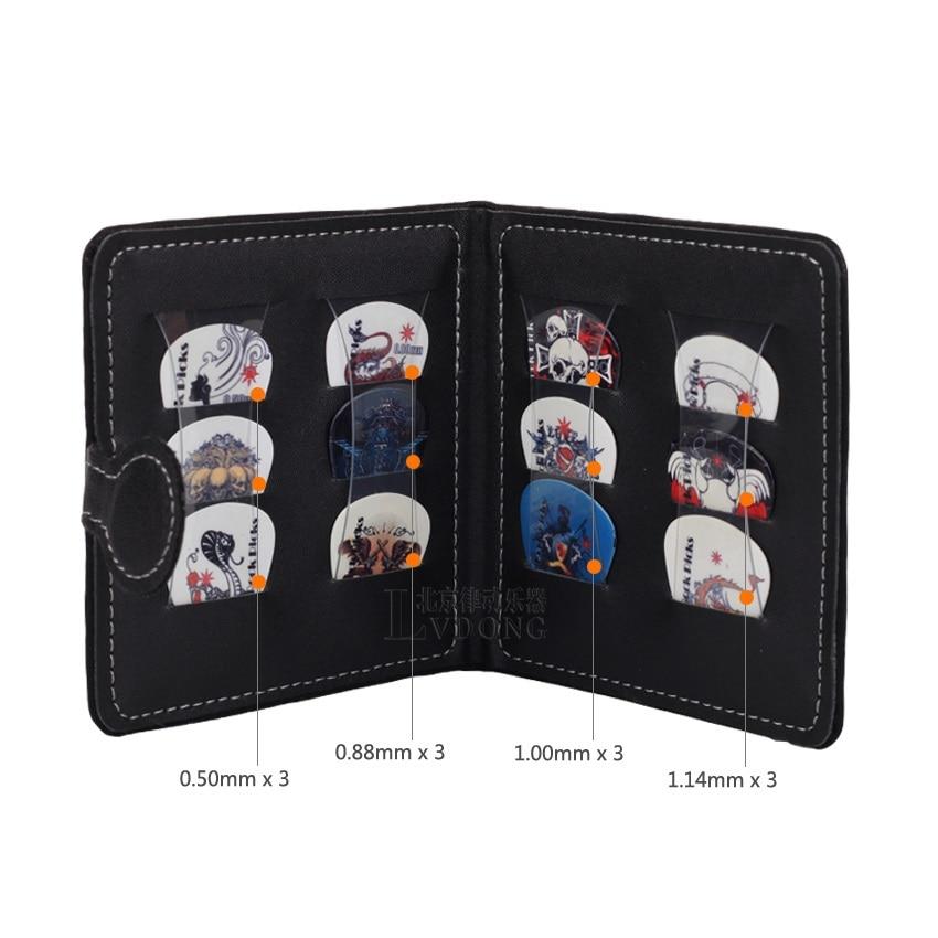 Wholesale 3PCS send random Guitar Picks Wallet Bag Holder Pack Including 12 Rock Picks Wholesale - Black
