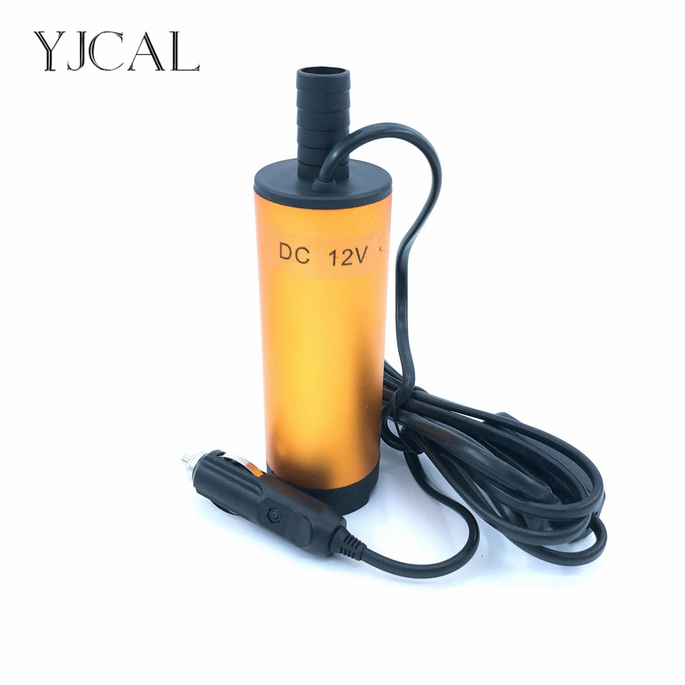Mini Submersible Diesel Fuel Transfer Water Oil Suction Pump 51MM Aluminum Alloy DC 12V 24V 30L/Min 25W Car Cigarette Lighter 51mm dc 12v water oil diesel fuel transfer pump submersible pump scar camping fishing submersible switch stainless steel
