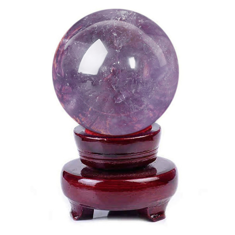 Natural Purple Amethyst Ball <font><b>Raw</b></font> Gemstone Polished Crafted Fashion Gifts Magic Purple <font><b>Quartz</b></font> Stone Ball <font><b>Crystal</b></font> Home Decoration image