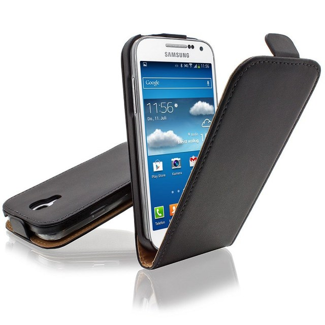 Luxury Genuine Real Leather Case Flip Cover Mobile Phone Accessories Bag Retro Vertical For Samsung GALAXY S4 Mini I9190 PS