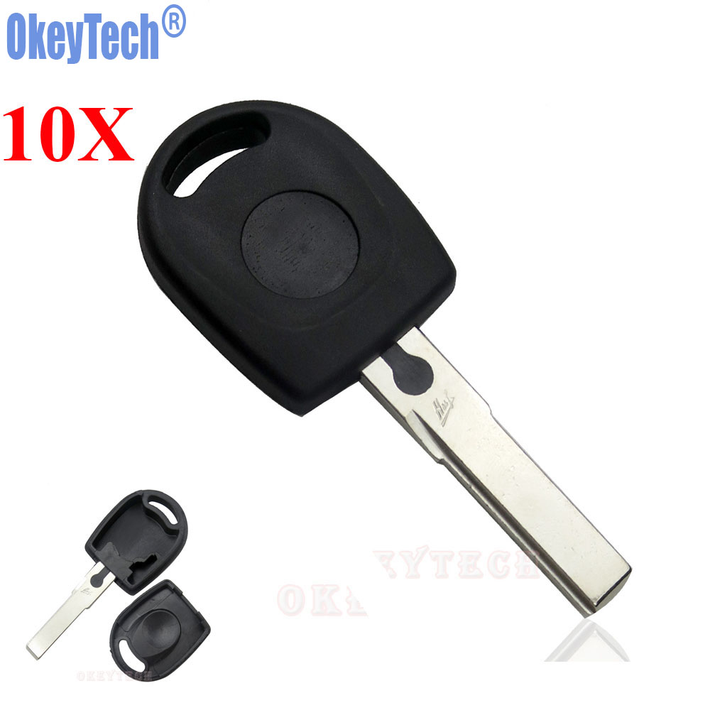 OkeyTech 10PCS/LOT Blank Car Remote Key Shell For Volkswagen (VW) B5 Passat Transponder Key HU66 Blade Free Shipping free shipping transponder key blank ym28 blade for tpx chip for opel 10piece lot