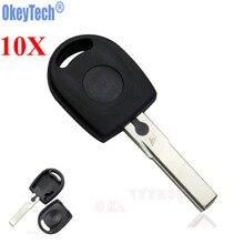 OkeyTech Lote de 10 unidades de carcasa para llave remota de coche, en blanco, para Volkswagen (VW), B5, Passat, llave transponedora, hoja HU66, Envío Gratis