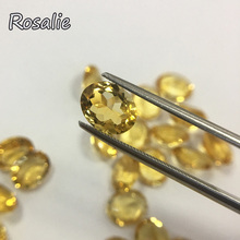 Rosalie,Natural loose gemstone brazil yellow citrine oval 8*10mm approx. 2.45ct per piece gemstone for silver jewelry mouting