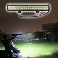 Vente chaude! 4 pcs/lot 12 V Double Rangées LED Conduite Lumière IP67 Étanche Lumière de Travail 126 W 20 pouce Offroad Voiture LED lumière Bar Gros