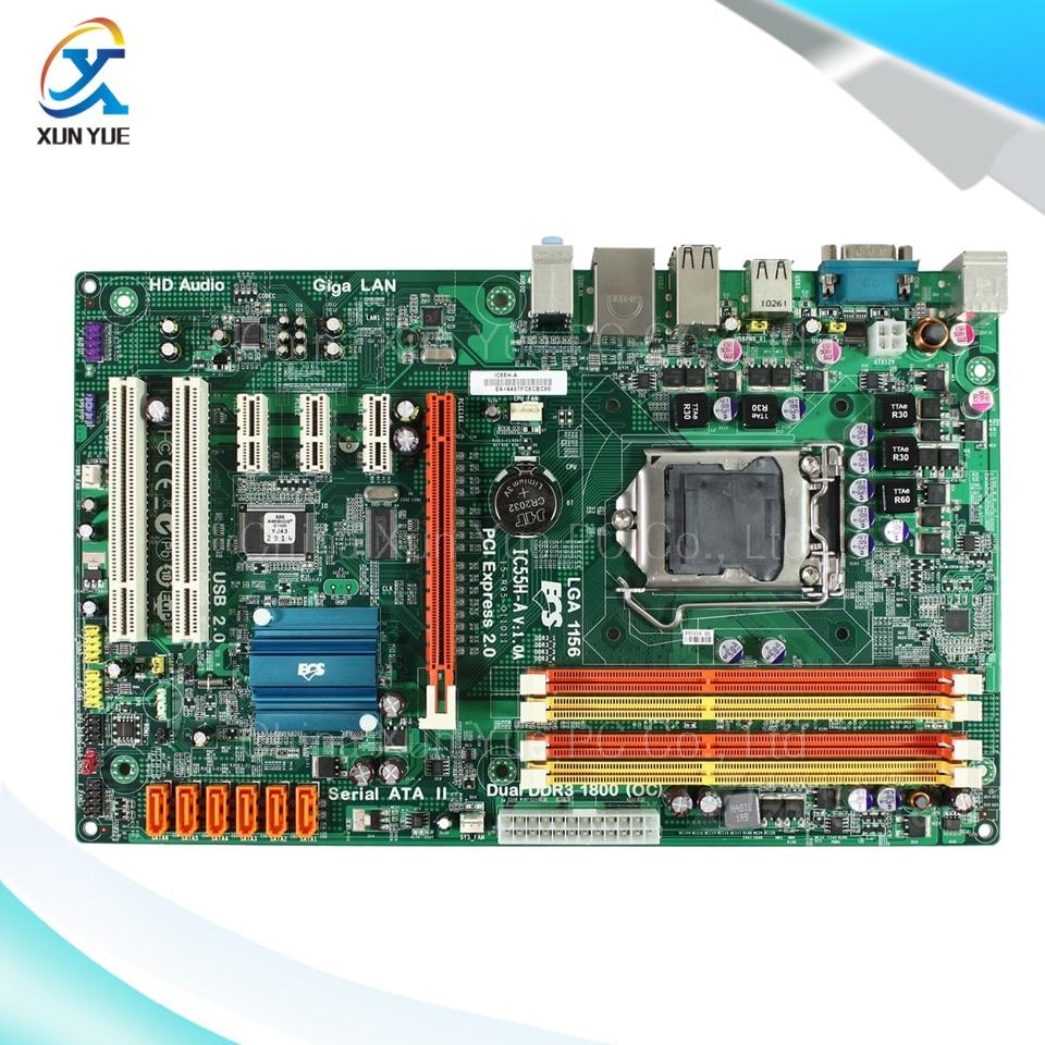 ECS IC55H-A Original Used Desktop Motherboard H55 LGA 1156 DDR3 8G SATA2 USB2.0 ATX штатив era ecs 3570