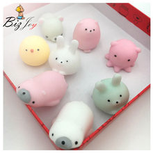 Kawaii Squishy Antistress Soft Slow Rising Mini Animal Mochi Healing Hand Press Toy Adult Kids Fun Stress Reliever Phone Straps(China)