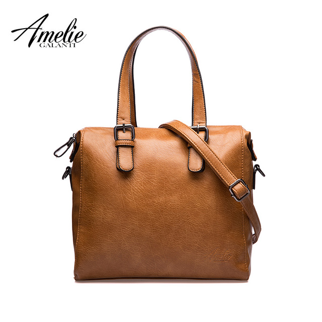 AMELIE GALANTI woman soft PU vintage solid crossbody casual flap bags famous designer fashion brand women handbags hot sale