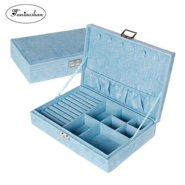 جديد نوع الفانيلا صندوق مجوهرات الكورية نمط حلقة أقراط صندوق تخزين موضة جميلة الأميرة صندوق مجوهرات هدية عيد ميلاد لفتاة