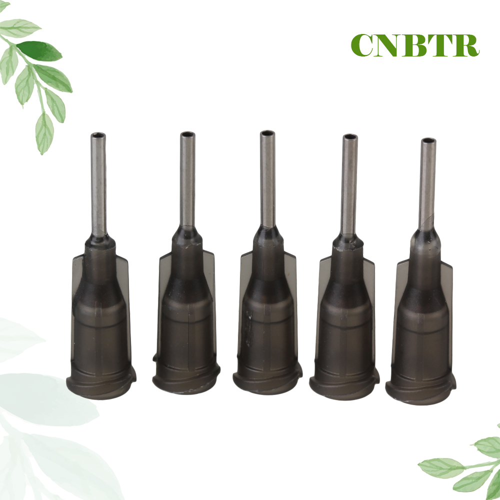 CNBTR 100pcs 1/2 Inch Dispensing Needle Blunt Tips 16 Gauge Luer Lock Gray cnbtr 12x silver 1 16gauge stainless steel blunt needle blunt tips for industrial dispenser