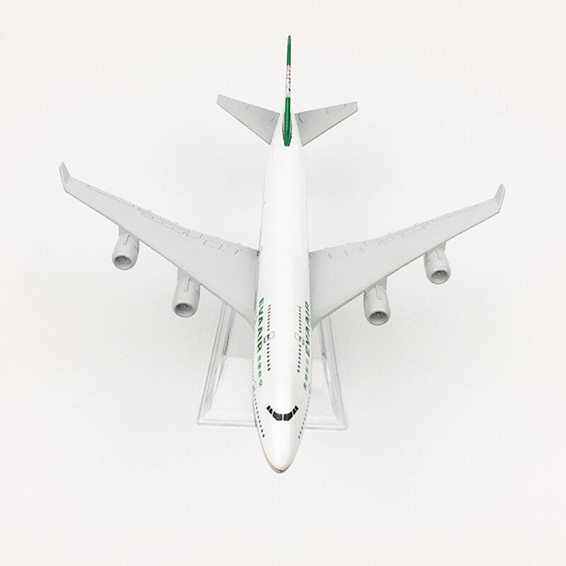 EVA Air Taiwan Boeing 747 Airplane 16cm DieCast Plane Model