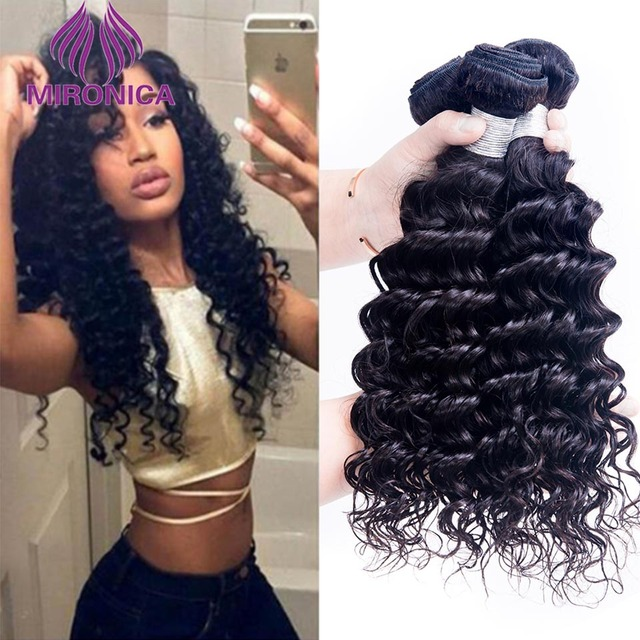 Beach Waves Hair Brazilian Virgin Deep Wave Curly 8a 100