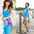 Mulheres Verão Senhoras Vestido de Chiffon Envoltório Sarong Praia Swimwear Maiô Maiô praia Cover Up Bikini Pareo Scarf para o Natal a2