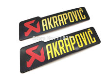 2 SIZE Exhaust Pipe Sticker Labels For yoshimura Scarico Akrapovic Sticker Car Motorcycle Badge Emblem Logo Decals Epoxy