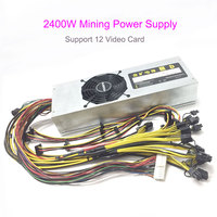 High End Ethernet Server 2400W Mining Power Supply Support 12 Video Card Motherboard Computer Graphics Card