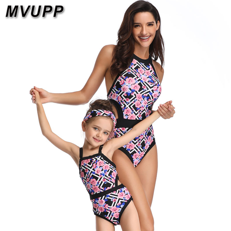one piece family set mother daughter swimwear mommy and me bikini swimsuit matching oufits look clothes mom mum baby bathing