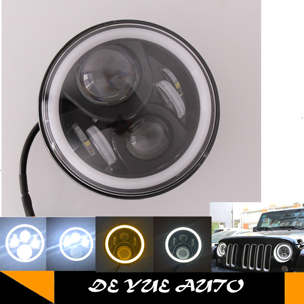 For Jeep Wrangler Led Tail Light Multifunctional Use Jk 2 2005 Headlight Diagram 7 97w With Halo Angel Eye 05 16