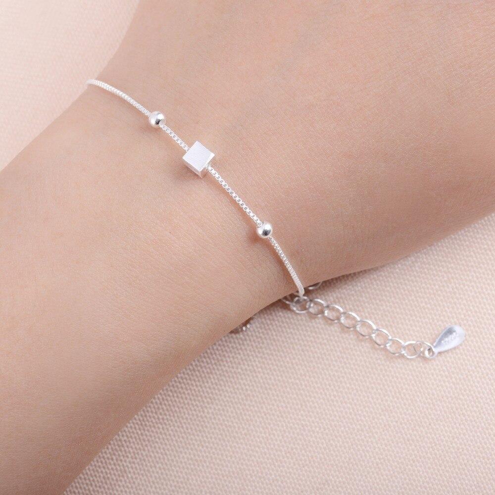Shuangshuo Fashion Jewelry Tiny Cubic Square Women