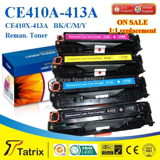 ФОТО Toner cartridge CE410A 411A 412A 413A For HP Compatible ink Cartridge With ISO SGS CE STMC ROHS Certificates free shippping