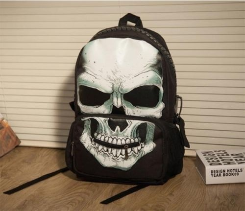 BLACK & WHITE SKULL BACKPACK