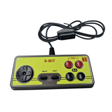 Japanese 8 bit console style 15Pin Plug Cable game  Controller GamePad with Turbo A B Button