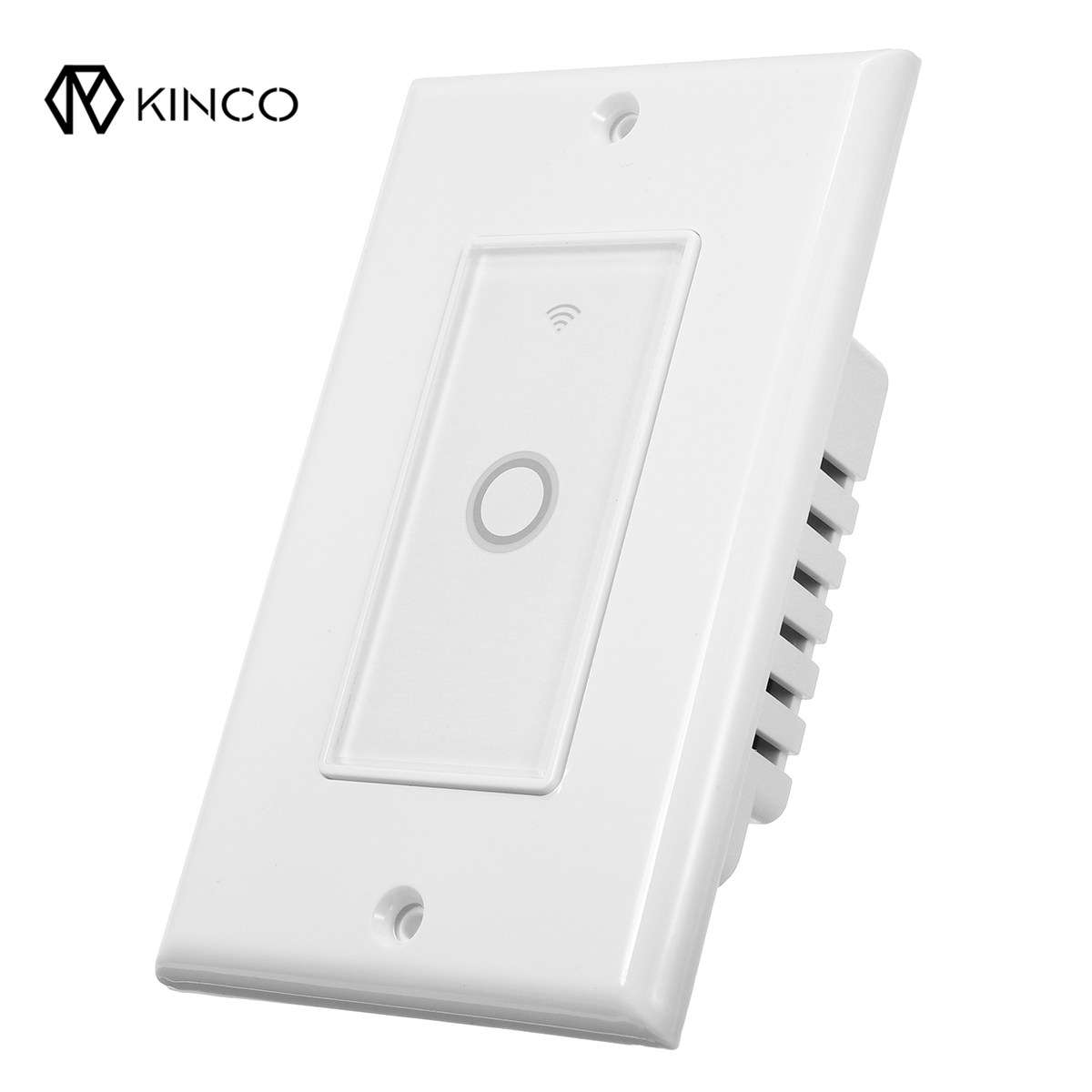 Kinco Durable 110V WIFI Smart Wall Switch Touch Panel Timing APP Remote Control For Alexa/Google Home Assistant