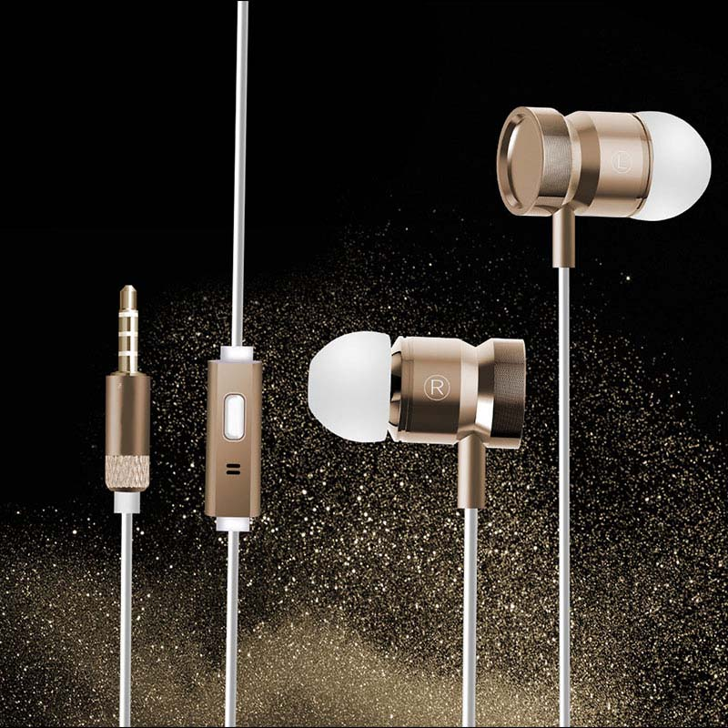 Earphone Headphone Metal Headset Earbuds With Mic for Sony Xperia E M2 SP T3 XA ZL M5 sony xperia t3
