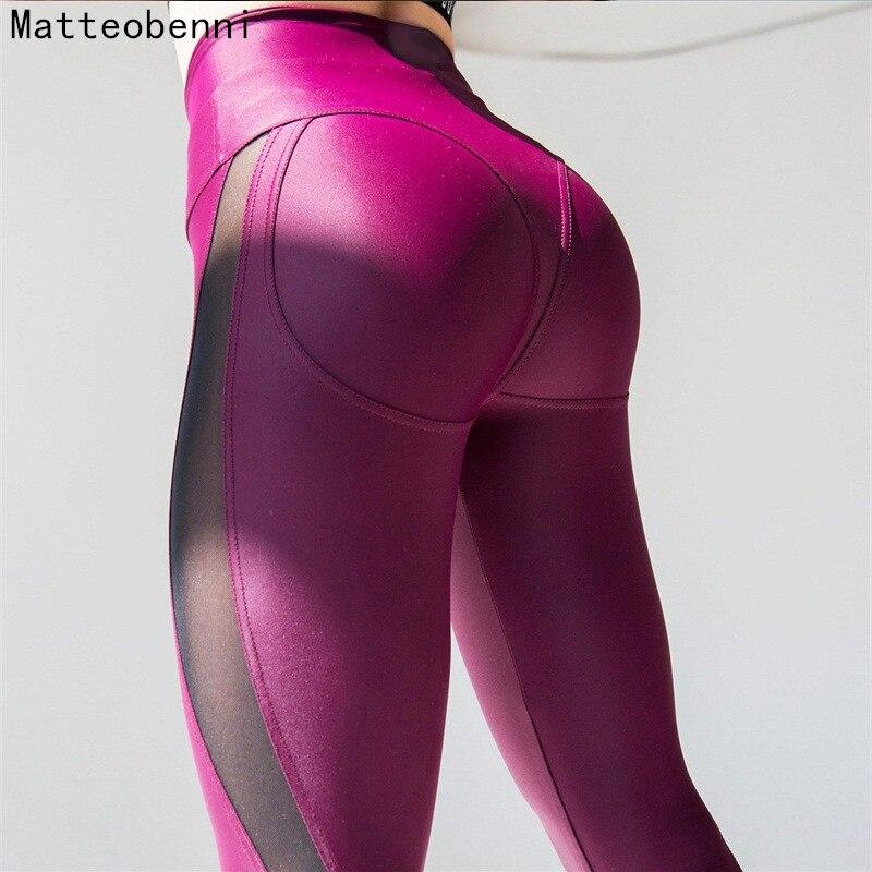 Súper elástico mujeres gimnasio medias energía Seamless Tummy Control Yoga pantalones de alta cintura entrenamiento jogging Leggings Running Pantalones