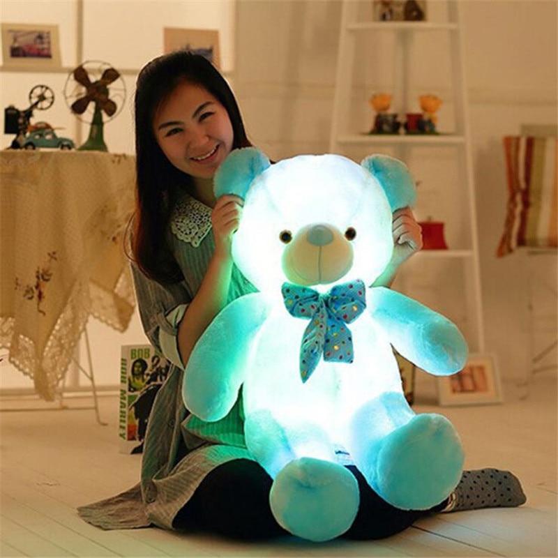 Прямая поставка креативный светильник светодиодный плюшевый мишка плюшевая игрушка красочный светящийся плюшевый мишка рождественский подарок для детей 3