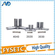 1PC New 3D printer 2020 3030 4040 T Slot Aluminum Profile 3-way 90 deg inside corner bracket Interior Connector f Alu-profile cheap FYSETC Pneumatic Connectors 2020 3030 4040 extrusion T slot corner corner brackets for 2020 3030 4040 Aluminum silver