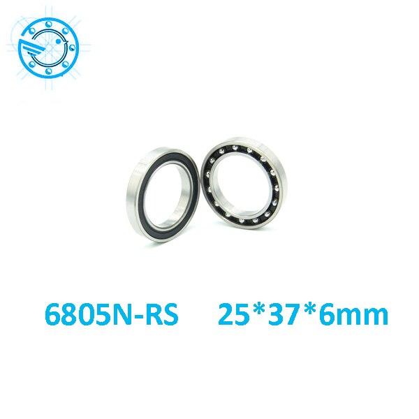 2pcs 6805N 6805N-2RS SI3N4 stainless steel hybrid ceramic bearing 25x37x6 6805N 25376 bi ...