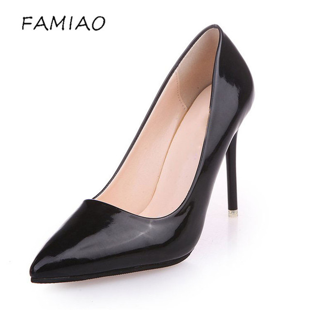 High Heels Shoes Pumps 10.5cm Black Stilettos Heels Sexy Pointed Toe White Pumps Nude Heels for Women Shoes Ladies 2