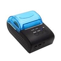 POS 5805LN Portale Mini 58mm 1 a 8 Sem Fio Bluetooth Código QR Android Motorista ZJ Impressora de Recibos de Bluetooth|bluetooth printer|bluetooth receipt printer|printer mini -