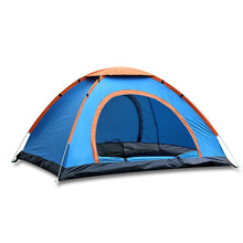 Pop Up Camping Tent , Automatic & Instant Setup Dome Waterproof Backpacking Tents for 3-4 Person Portable Hiking Pack Shelters